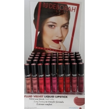 ---Deborah Display Fluid Velvet Mat Lipstick
