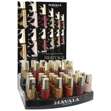 -----Nagellak display Mavala Heritage Color's